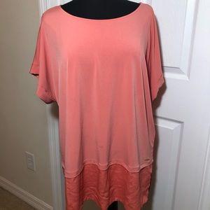 Calvin Klein Women Top Shirt Orange Coral XL